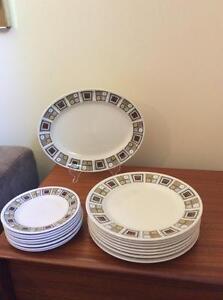 """Vintage Kathie Winkle """"Rushstone"""" Dinnerware"""