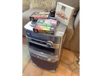Karaoke machine and cds