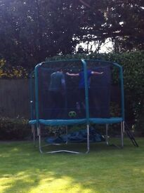 Trampoline - 8 foot (244 cm) - Skyhigh plus. With enclosure, ladder and cover