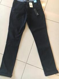 Boys Next Black Skinny leg trousers - Age 14, plus fit adjustable waist. BNWT