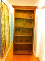 Lovely Tall Pine Book Case ( Free Standing )