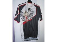 Moozes Fun Shirt. Black, White & Red Pattern. Size 2XL