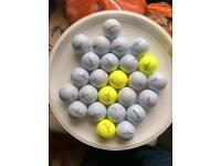 25 pinnacle golf balls used but nice and clean