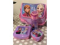 Brand New,Frozen Elsa & Ana Sisters Forever Lunch Bag Set- Lunch Box, Snack Box and Water Bottle