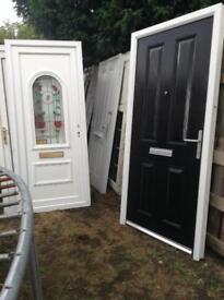 Black composite front doors