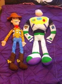 Woody and buzz teddys