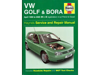 HAYNES VW GOLF & BORA April 1998 - 2000 Petrol & Diesel