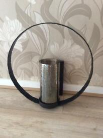 Hand made large wall metal candle holders
