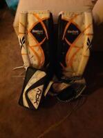 Goalie Pads Gloves and Skates