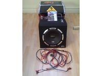 """Vibe Slick SLR 12A-V2 1200 Watt 12"""" Active Amplified Car Subwoofer with cables"""