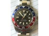 Mens ICONIC Rolex pepsi style watch