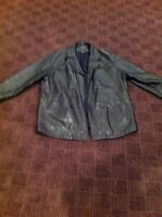 His and hers Danier real leather jacket