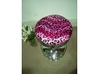 Pink Cheetah Bar Stool