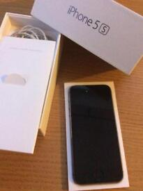 iPhone 5s in silver 16 gb on vodaphone