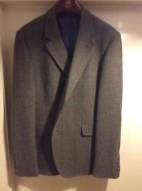 Holland Esquire Gents Grey Check Wool Jacket