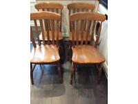 Set of 4 farmhouse style dining chairs four dining chairs