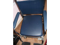 New unused wheeled portable commode chair