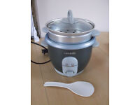 Crock Pot Rice Cooker with Steam Basket + Paddle + Instructions