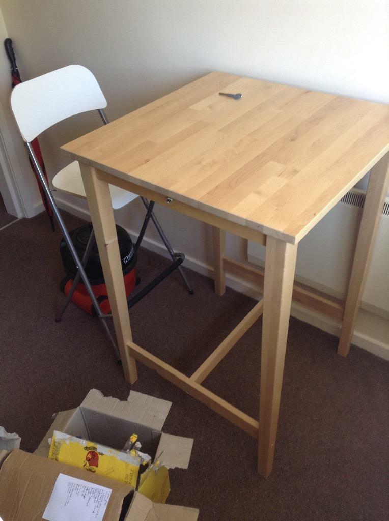 Grundtal Ikea Kitchen Shelf ~ Classy IKEA solid wood bar table and folding stool!!!  United Kingdom