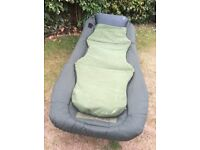 Nash Indulgence mark 4 fishing bed chair 4 folding legs with detachable mattress for extra comfort