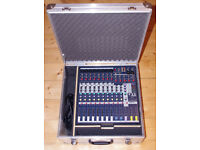 Soundcraft EFX8 mixing console, mixer, built in effects, mint, incl. custom-made flight case