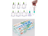Cupping Therapy Set - Hijama Kit contain 6 Cups & Vacuum Pump