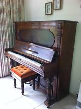 PIANO AND STOOL FOR SALE.   G.Schwechten $1,000 Ascot Vale Moonee Valley Preview