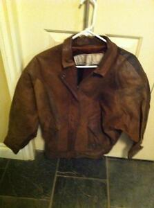 Women's Size Small Brown Genuine Leather Coat-Spring/Summer/Fall Strathcona County Edmonton Area image 1