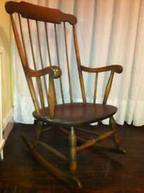 Old antique classic rocking chair