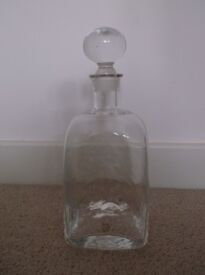 Iconic 1980s Dartington Crystal Glass Decanter - Perfect Condition