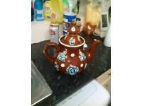 Barge ware teapot