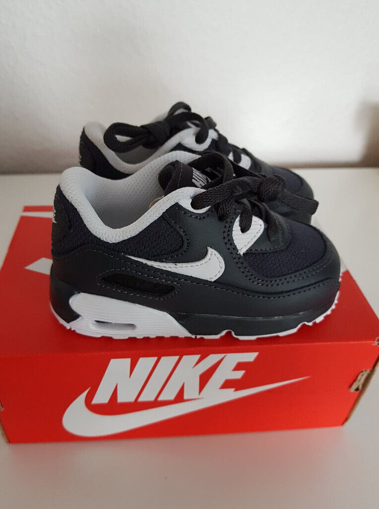 size 40 4d4e1 8836d NEW Kids Shoes size 5.5  22 Nike Infant Air Max 90 Mesh PS Trainer Black   White Anthracite