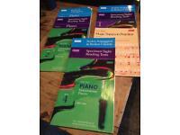 Piano exam books (10 in total) grade 1, 2 & 4