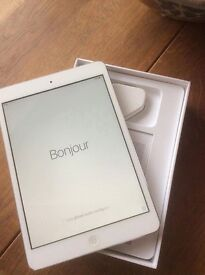 iPad mini 1st Generation, WiFi, 16GB, White and Grey.
