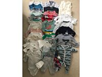 Baby clothes bundle sizing from newborn to 3 months £10