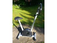 Pro Fitness magnetic exercise bike, compact size