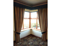 Lounge Curtains with Pelmets and Roman Blinds