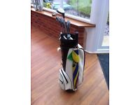 Half set of Fazer clubs Acer Golf Bag with club protection hood