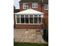 dismantled double glazed conservatory