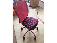 Pink ikea chair