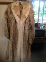 full length coyote fur coat