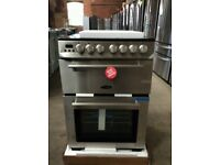 Boxed Brand New Stainless Steel RangeMaster 60cm. Ceramic Cooker With 4 Burners And Double Oven