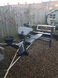 Marcy weight bench and Olympic bar collection Seaton Sluice