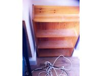 Nice small pine bookcase