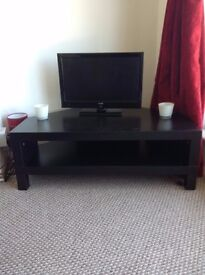 Light Television Stand: Black Wood. ( Moving home in July)