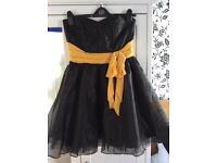 Black Lipsy Prom Dress Size 10-12