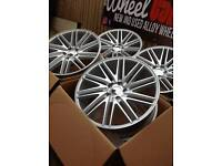 """Brand new 19"""" vossen style 5x112 alloy wheels staggered"""