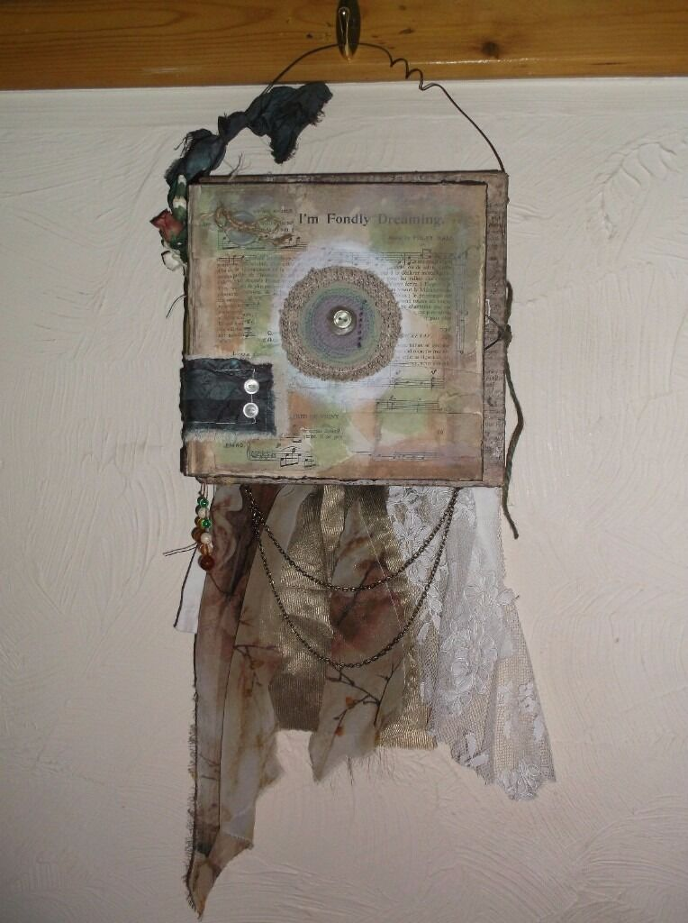 **REDUCED** OOAK HANDCRAFTED MIXED MEDIA FONDLY NOT YOUR ORDINARY ALBUM ALTERED ART KEEPSAKE MEMORY