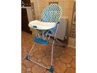 BABY START TODDLERS FOLDING HIGH CHAIR