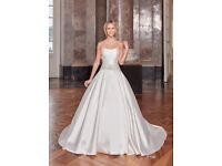 Stunning Wedding dress - Diane Le grand (Adjustable Size-Corset, Ivory, Silk)